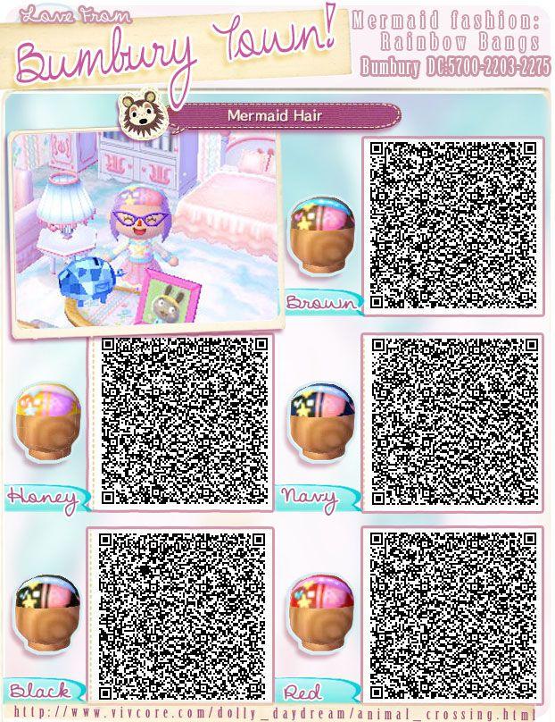 Animal Crossing Qr Codes Animal Crossing Hair Animal Crossing