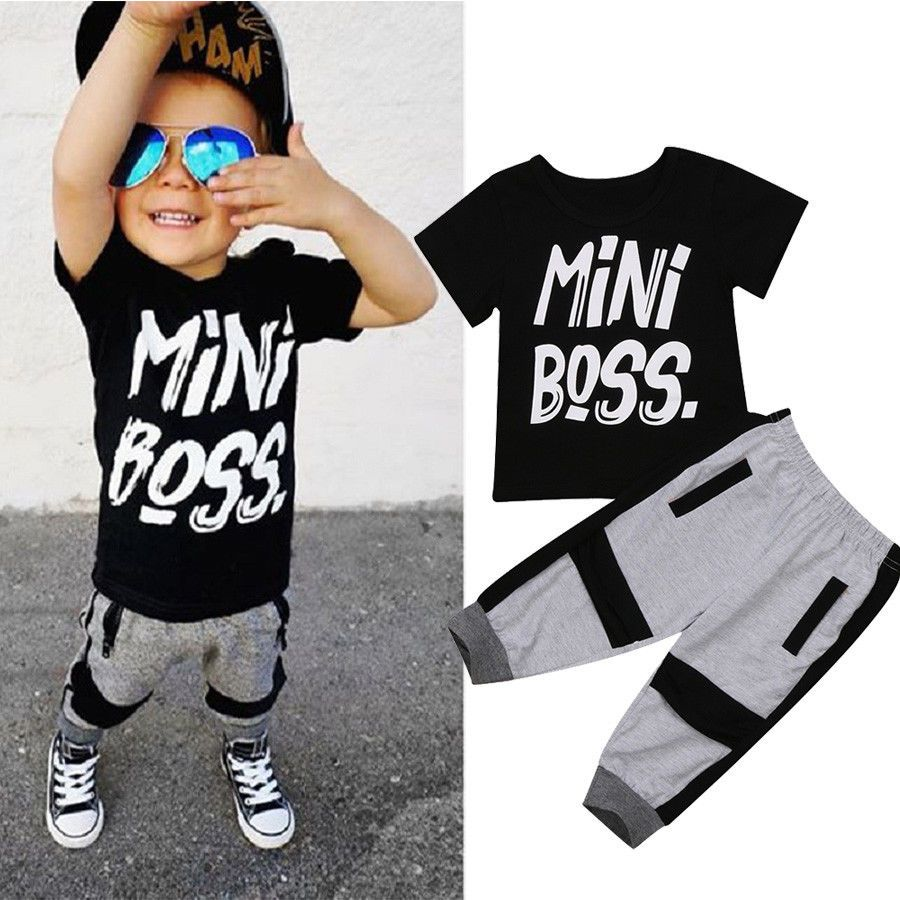 50ec11cf4 US Stock Toddler Kids Baby Boy T-shirt Tops Pants 2Pcs Outfits Set Clothes  1-6T   Clothing, Shoes & Accessories, Baby & Toddler Clothing, Boys'  Clothing ...