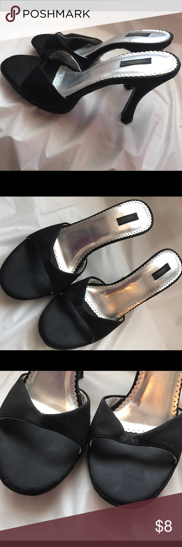 Size 6 Black Heels Size 6 Black Heels. Shoes have been worn once for a wedding. Please review all photos and ask questions prior to purchase.  Heels are from a smoke and pet free home. Xhilaration Shoes Heels