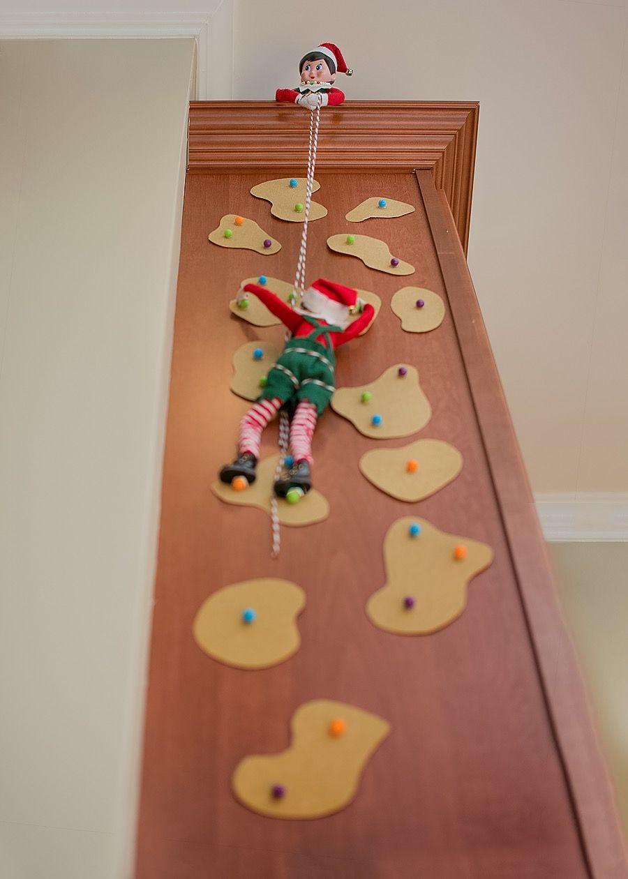 Elf On The Shelf Rock Climbing Shelf Ideas Elves And