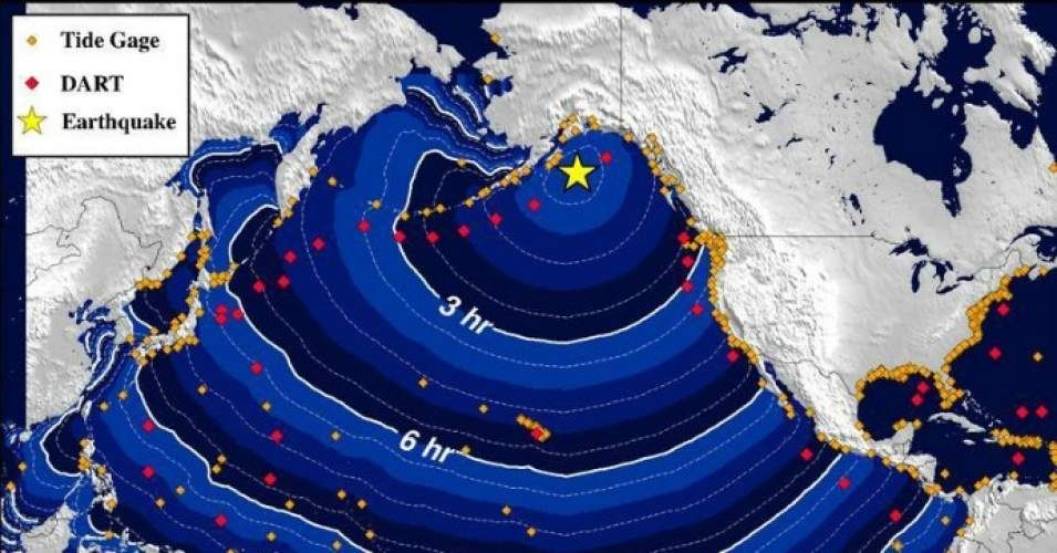 Updated No major waves reported and U.S. National Tsunami