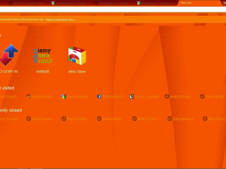 orange google chrome theme chrome themes pinterest chrome and