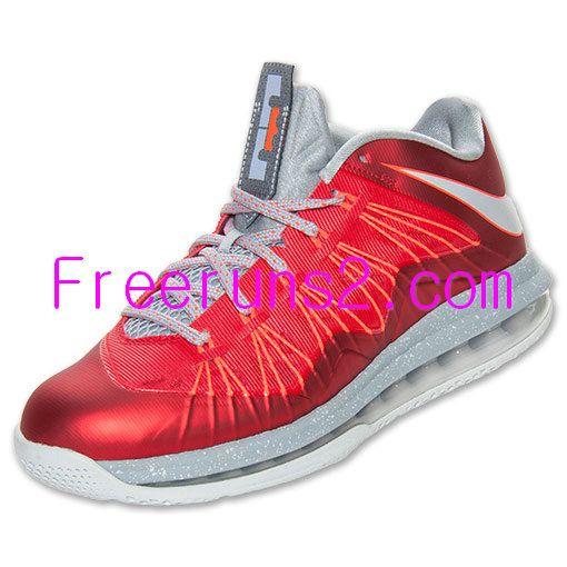 reputable site d1efc c6e67 KD5Low.com full of Half off Lebron Shoes,Nike Air Max Lebron X Low  University Red Stadium Grey Crimson 579765 600