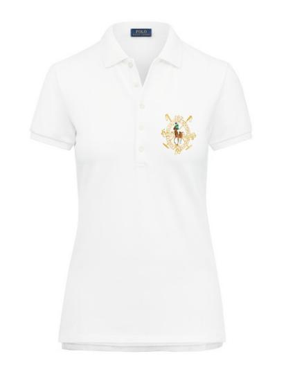 Ralph Lauren Women S Polo Shirt White Navy Harrington 7 Polo Shirt White Polo Shirt Women Mens Tops