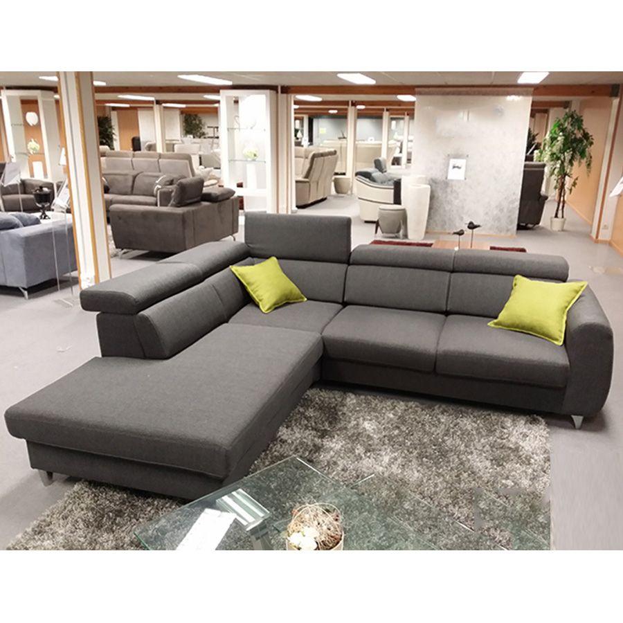 Canapé d\'angle gris en tissu GRETNA | Canapés d\'angle | Pinterest ...