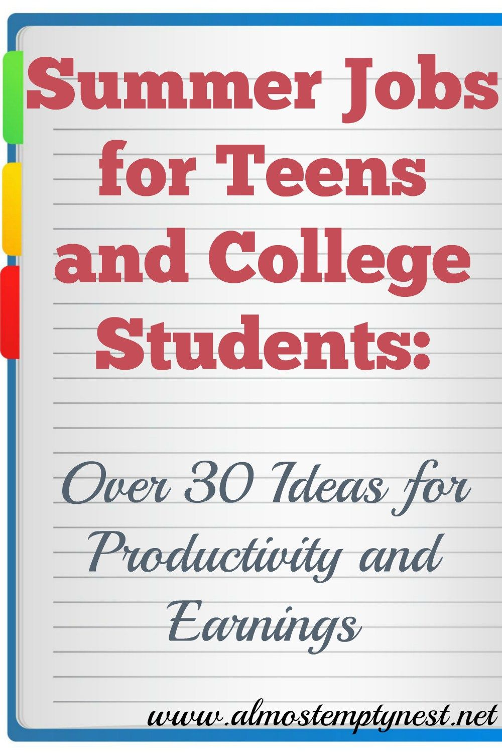Summer Jobs For Teens And College Students Over 30 Ideas For