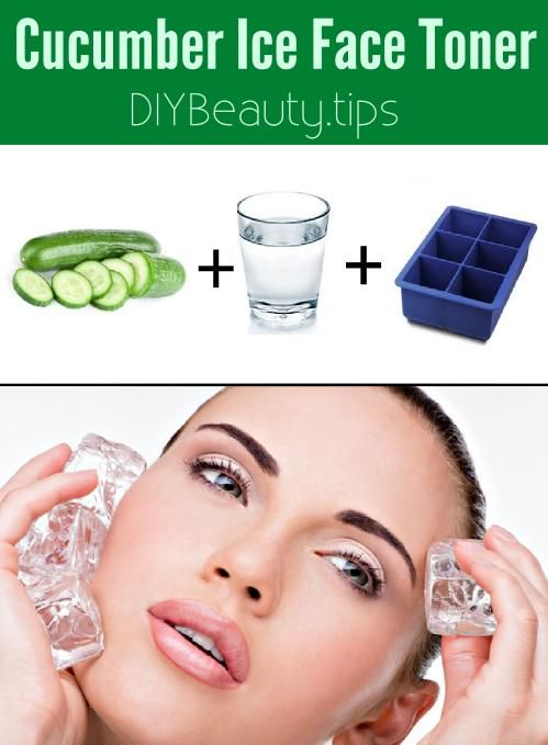 Anti-Aging Cucumber Ice Face Toner can be done everyday to ...