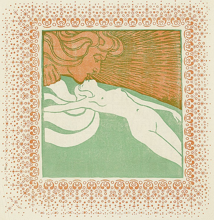 Vienna Secession illustration, 1903, Ver Sacrum Kalender.