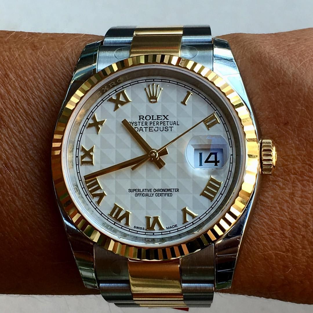 9af4b518e01 How about this rare ivory roman pyramid dial   DATEJUST 36 Ref 116233…