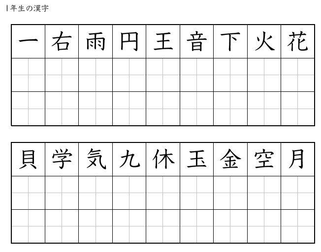 Kanji Practice Sheets Japanese Kanji Practice Sheet Printable Worksheets Japanese worksheets printable