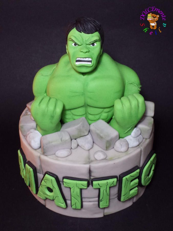 Hulk Cake by Sheila Laura Gallo star wers Pinterest Hulk
