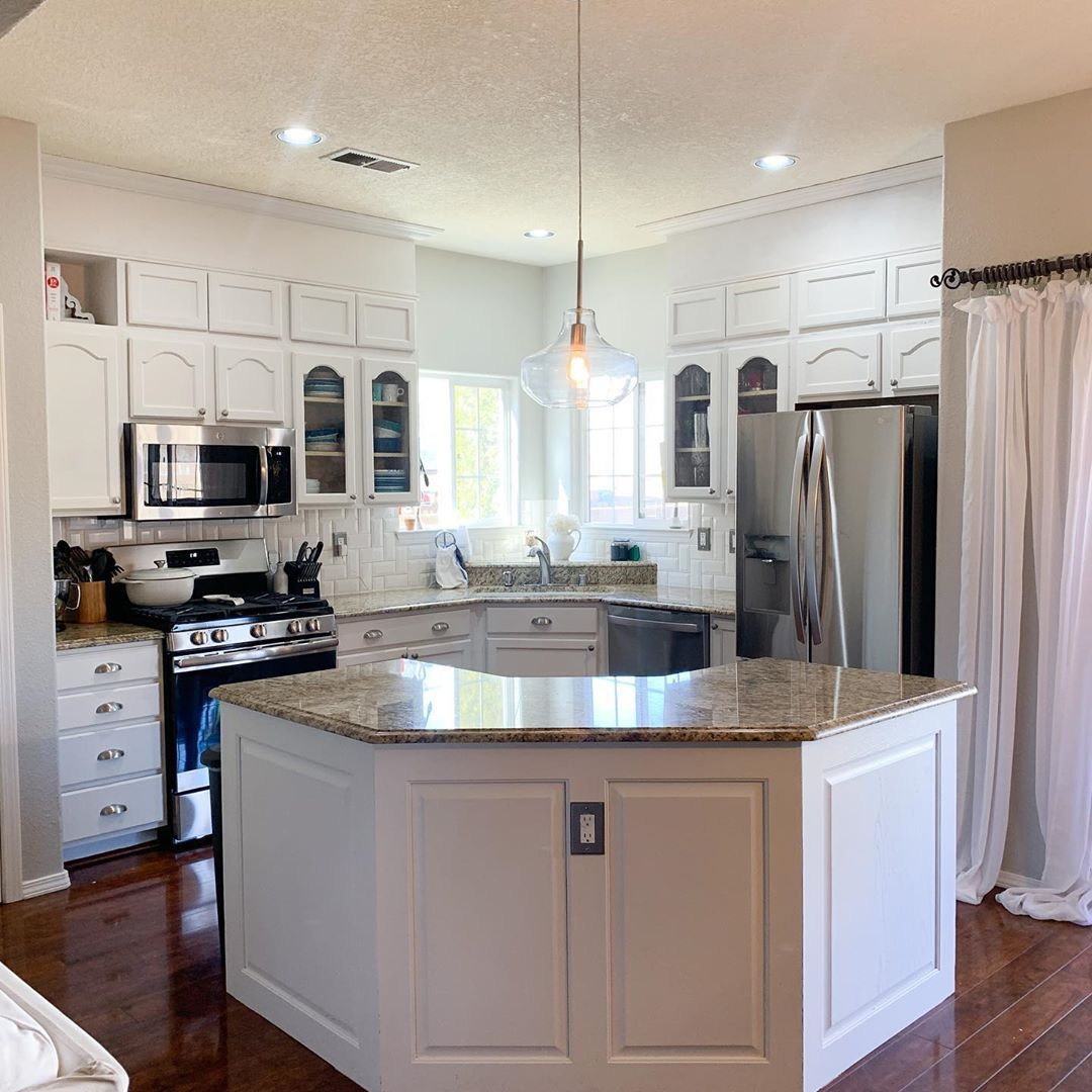 In The Spotlight Our Kitchen Still In Progress But So Much Of The Work Is Done Final Trim Touch Up Paint And In 2020 Kitchen Kitchen Makeover White Kitchen