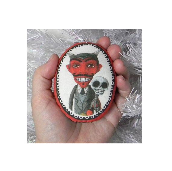 Krampus ornament by cartbeforethehorse on Etsy. http://www.etsy.com/listing/85518443/krampus-devil-christmas-ornament-folk?ref=cat2_gallery_19