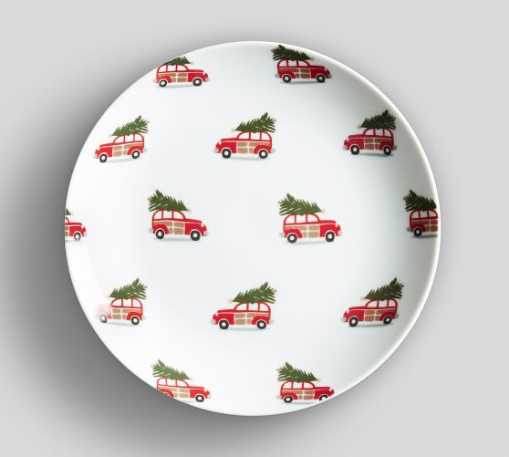 christmas appetizer plates with vintage cars set of 4 16 christmas tablescape