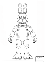 Resultado De Imagem Para Five Nights At Freddy S Colouring Toy Bonnie Desenho Colorir