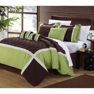 and sage ivory luxury comforter hudson green king chocolate size bedding set dp california pieces