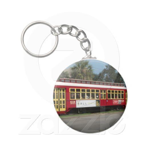 Red Streetcar Keychain