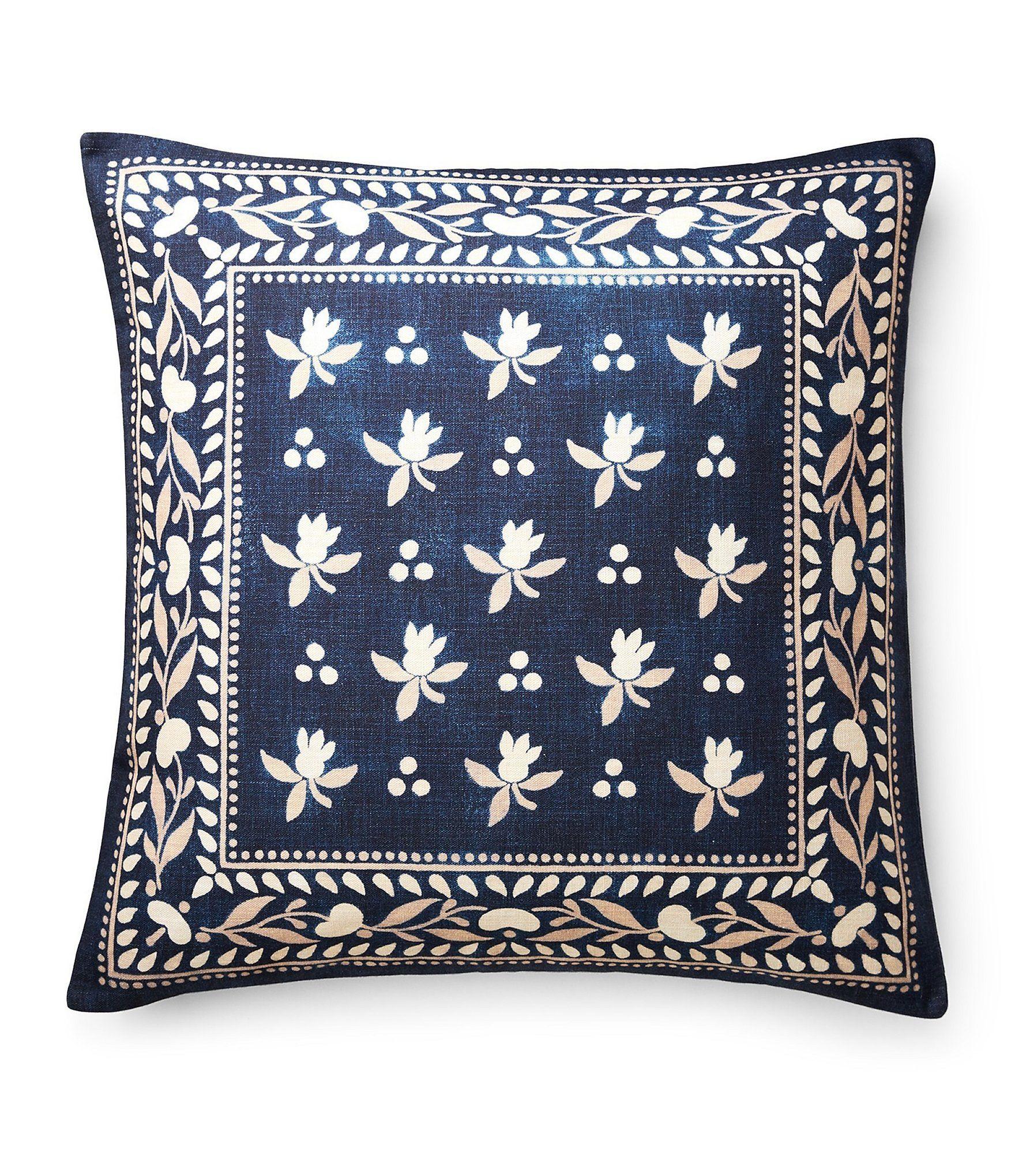 Ralph Lauren Artisan Loft Collection Judd Scarf Print Pillow