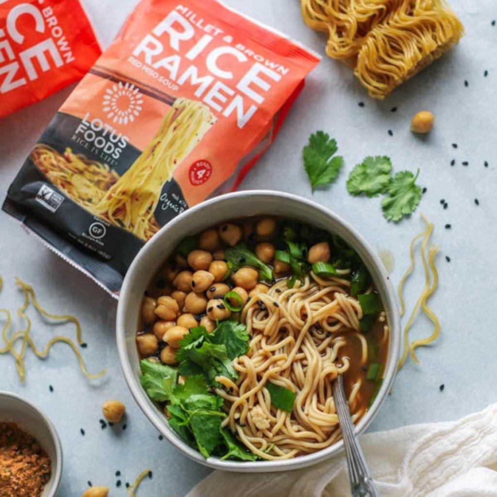 Chickpea ramen bowl lotus foods website recipe in 2020