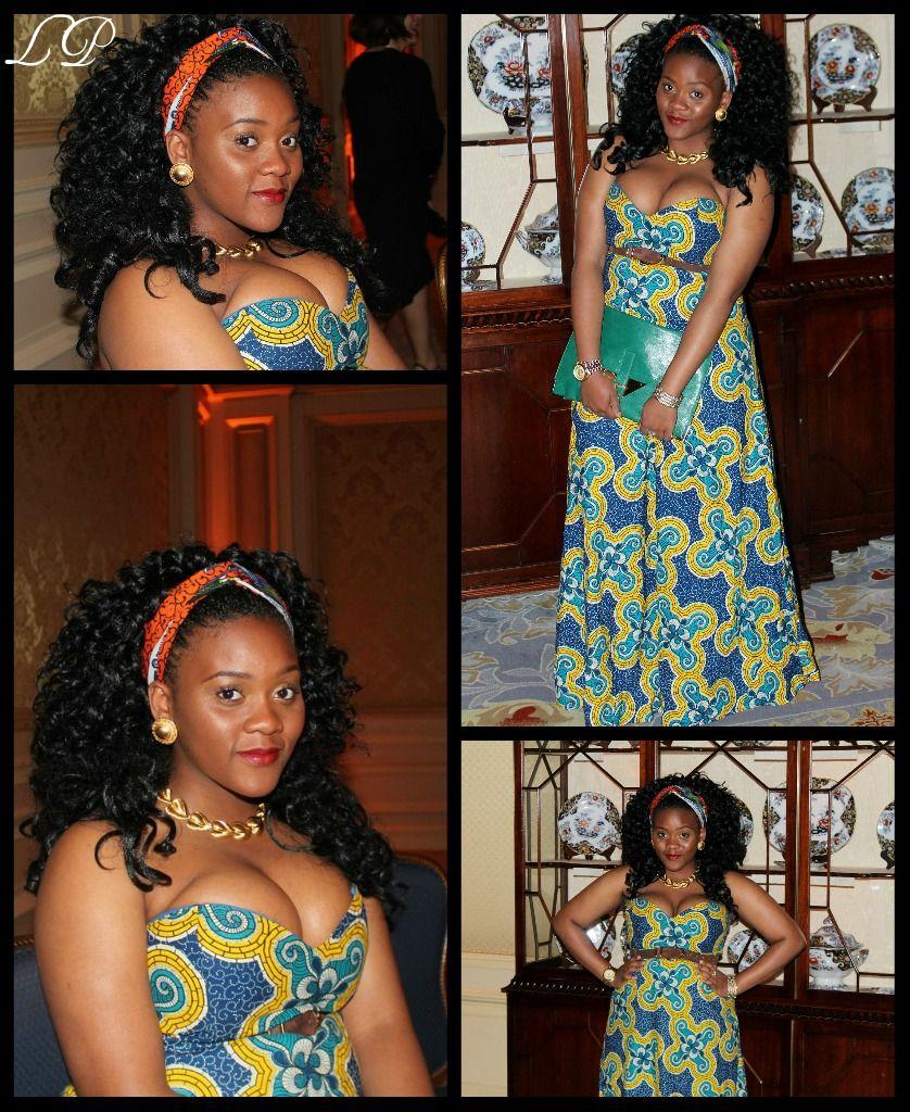 Love the Africa print dress