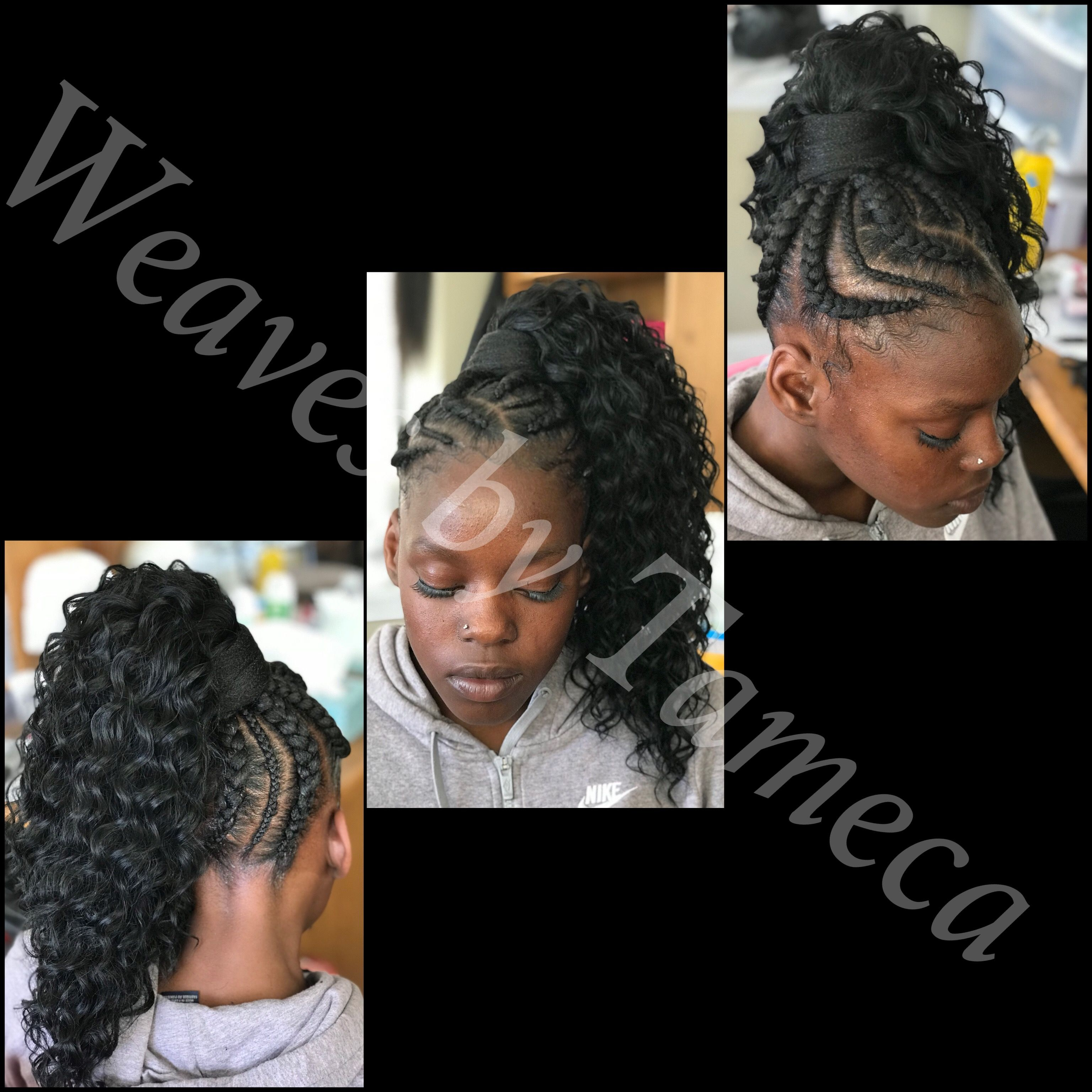 Feed In Ponytail Curly Ponytail Braided Ponytail Feed In Ponytail Curly Ponytail Braided Hairstyles