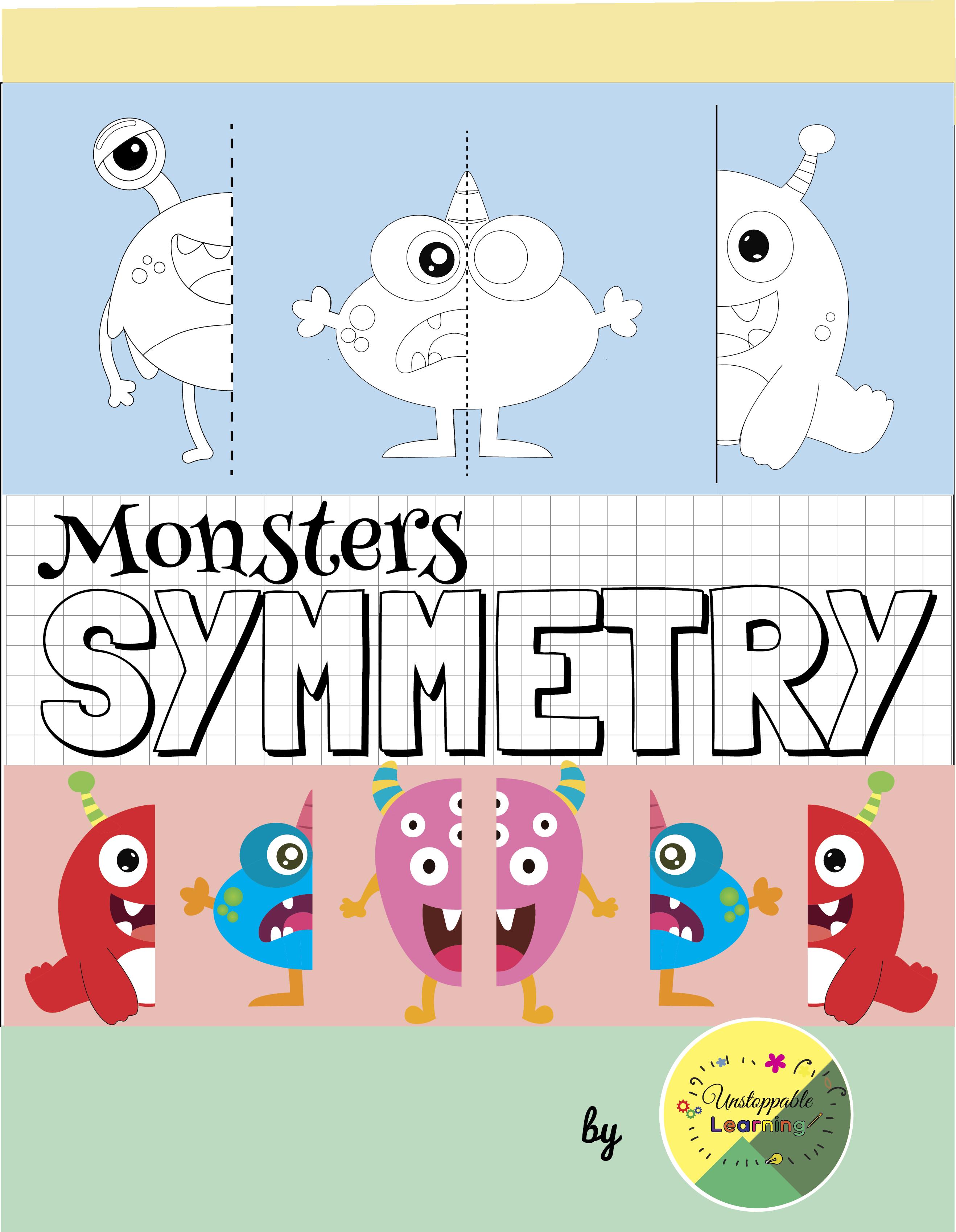 Monsters Symmetry Activities No Prep