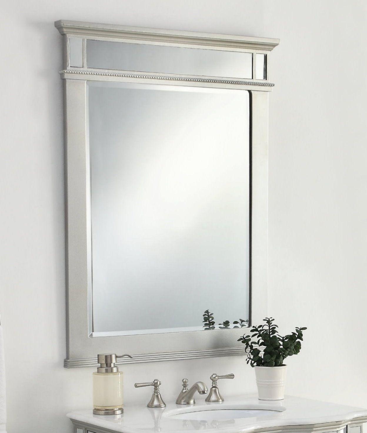 All Mirror Ashley Mirror Size 30 X 40 H Modern Style Bathroom Mirror Wall Mirror