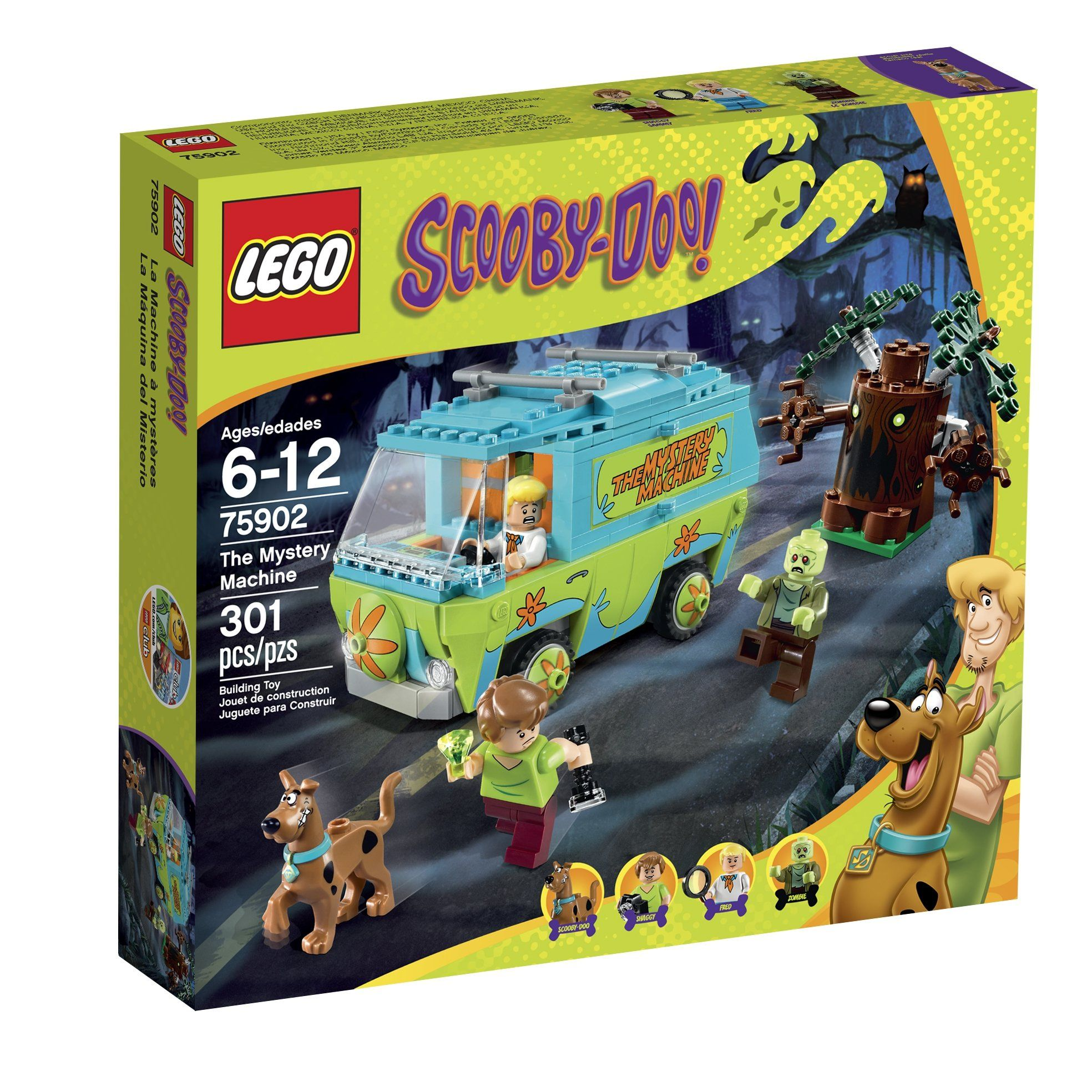 Lego car toys  LEGO ScoobyDoo  the Mystery Machine Building Kit  LEGO