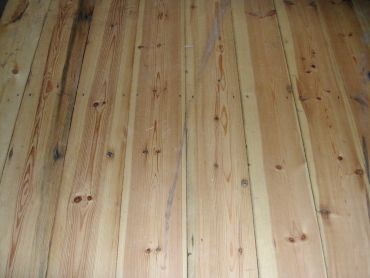 Stripped and sanded pine floorboard 6 3/4 inch wide bens rec 28 + vat