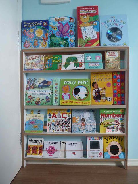 DIY Front Facing Bookshelf For Kids Bedroom