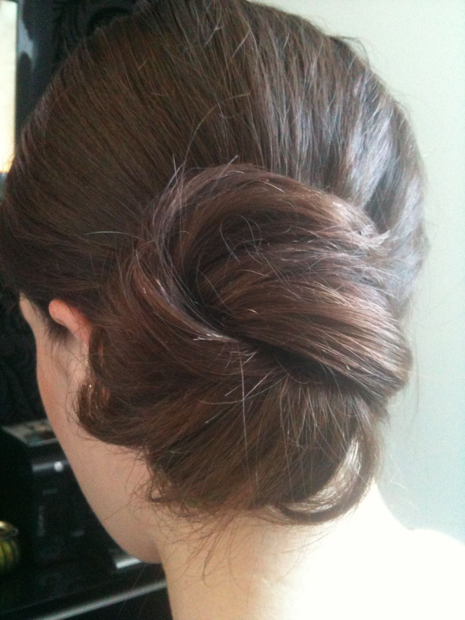 Bridesmaid hair :) infinity knot wrapped low side bun