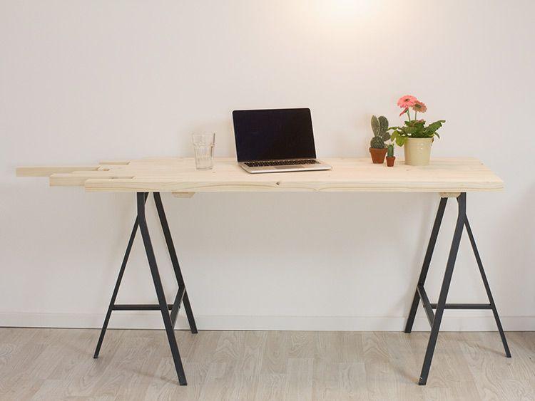 Tutoriel diy fabriquer un bureau design en lattes de bois via