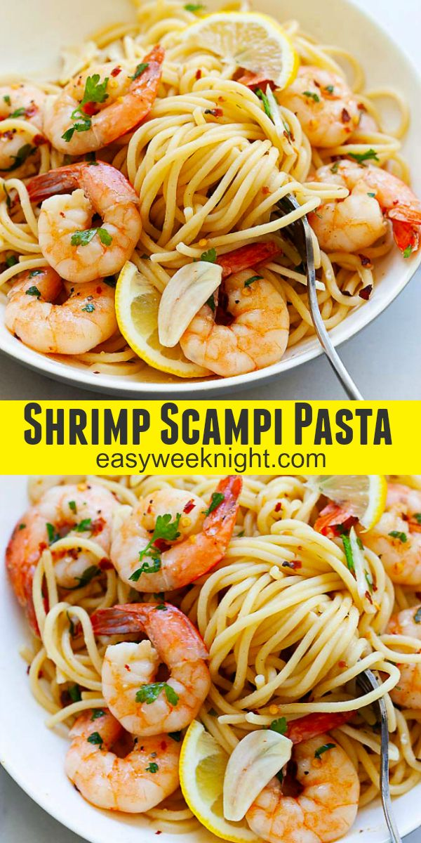 Shrimp Scampi Shrimp Scampi - easy and delicious shrimp scampi pasta with buttery shrimp in a lemon wine sauce. This recipe is so good you've to try it for dinner |