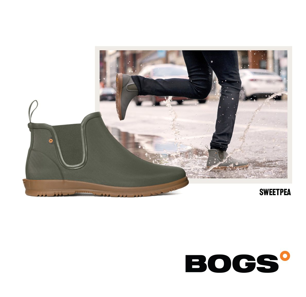 BOGS Womens Sweetpea Chelsea Winter Waterproof Insulated Winter Snow Boot