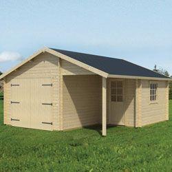 Garage en bois NEVIS 22 m2