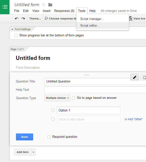 Limit responses in Google Forms (using Google Apps Script