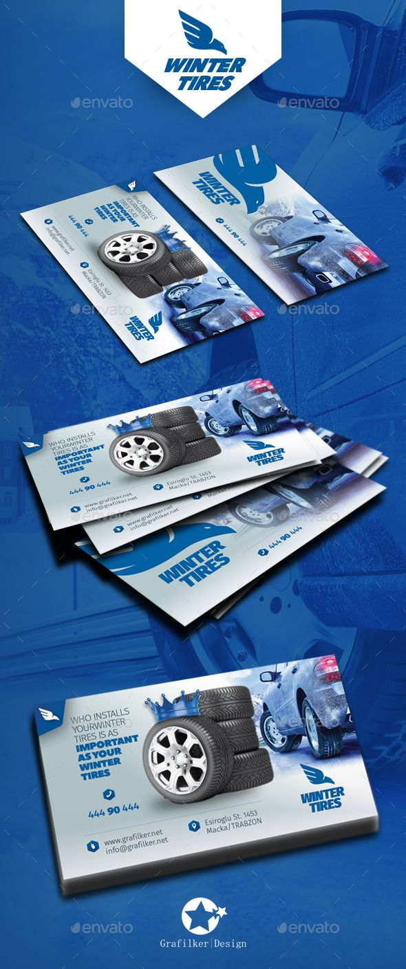 Automobile Tire Business Card Templates | Tarjetas de presentación ...