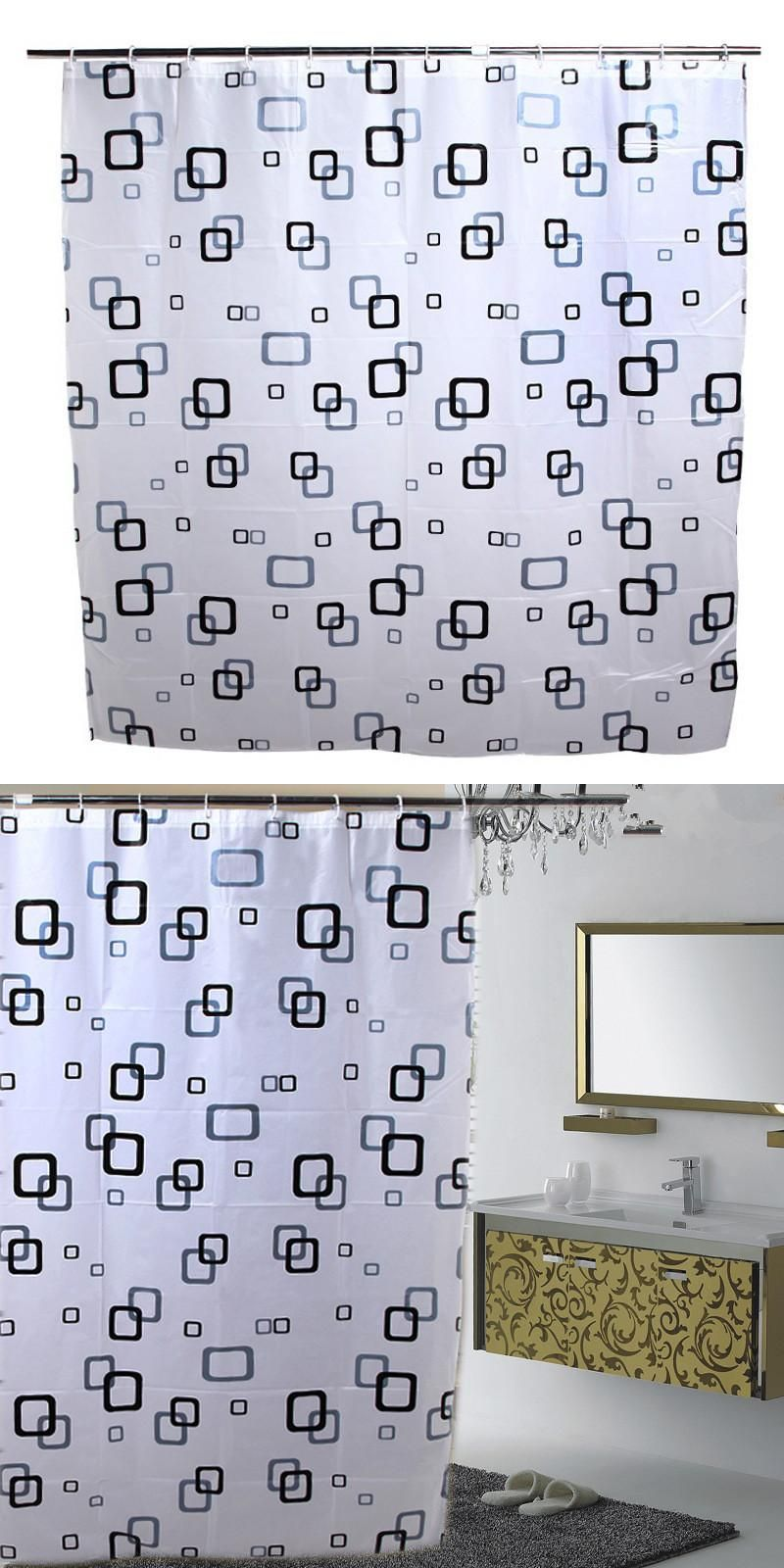 High End Home Decoration Shower Curtain Waterproof Thick Box PEVA Shower  Curtain 10 Silk Thick