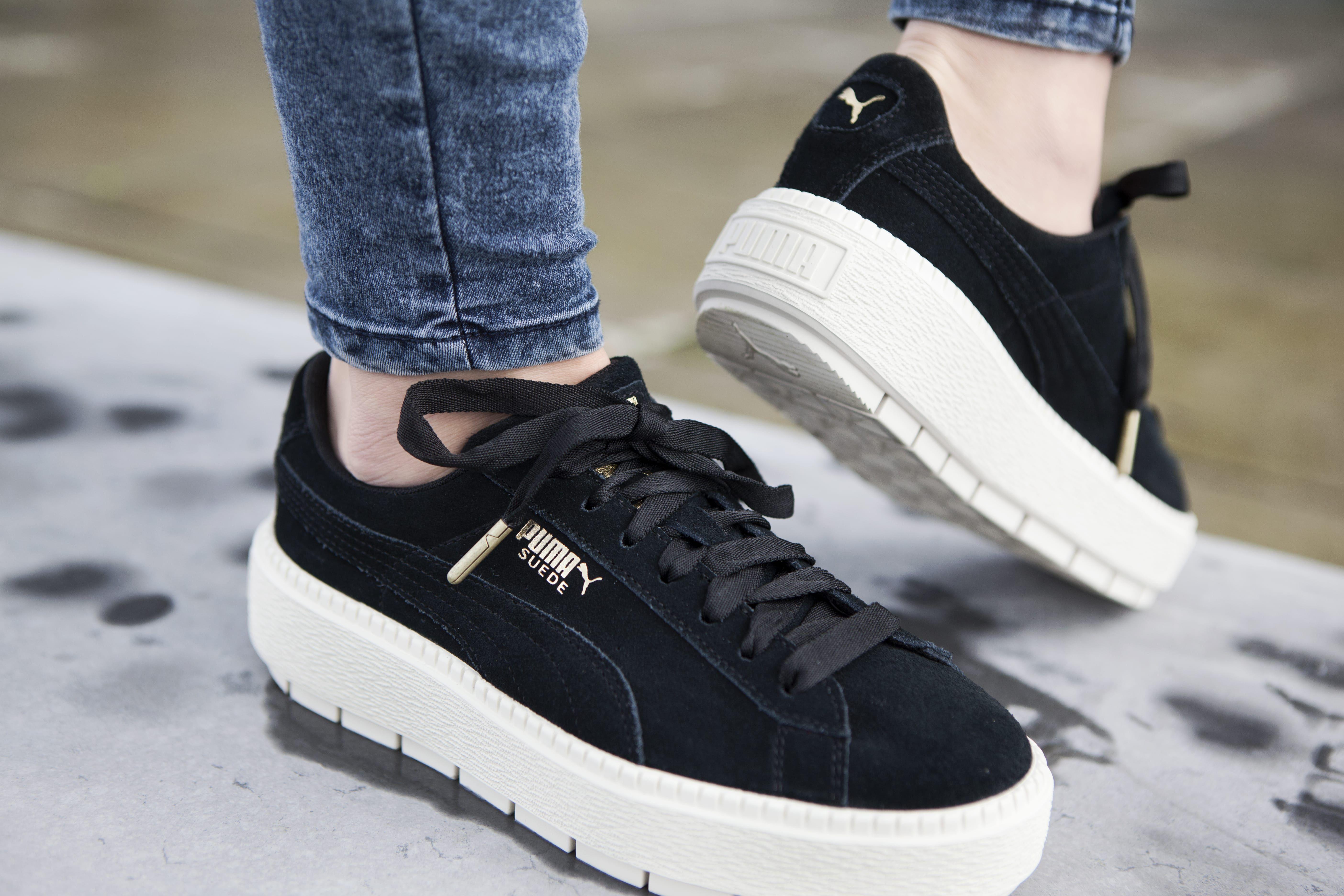 PUMA Platform Rugged Trace | Zwart | Dames | PUMA sneakers