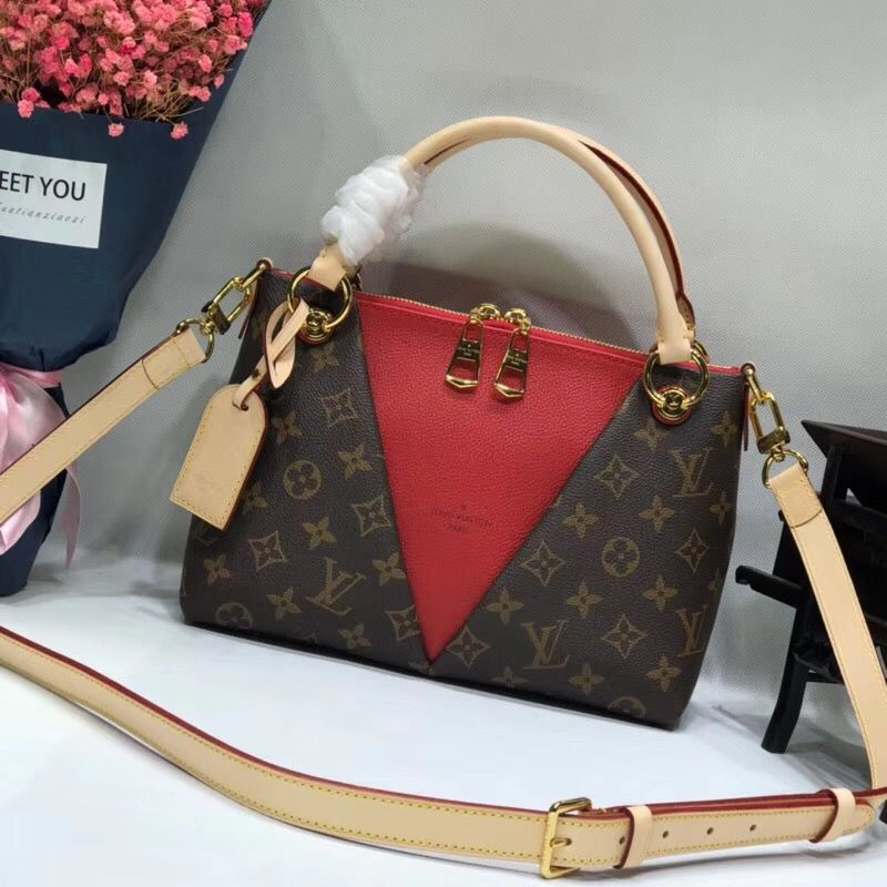 cf3d49b8b618 Buy now the Louis Vuitton Monogram Canvas V Tote BB Cerise M43966 at  bargain rate- USD 331. Free Worldwide Shipping to your door.