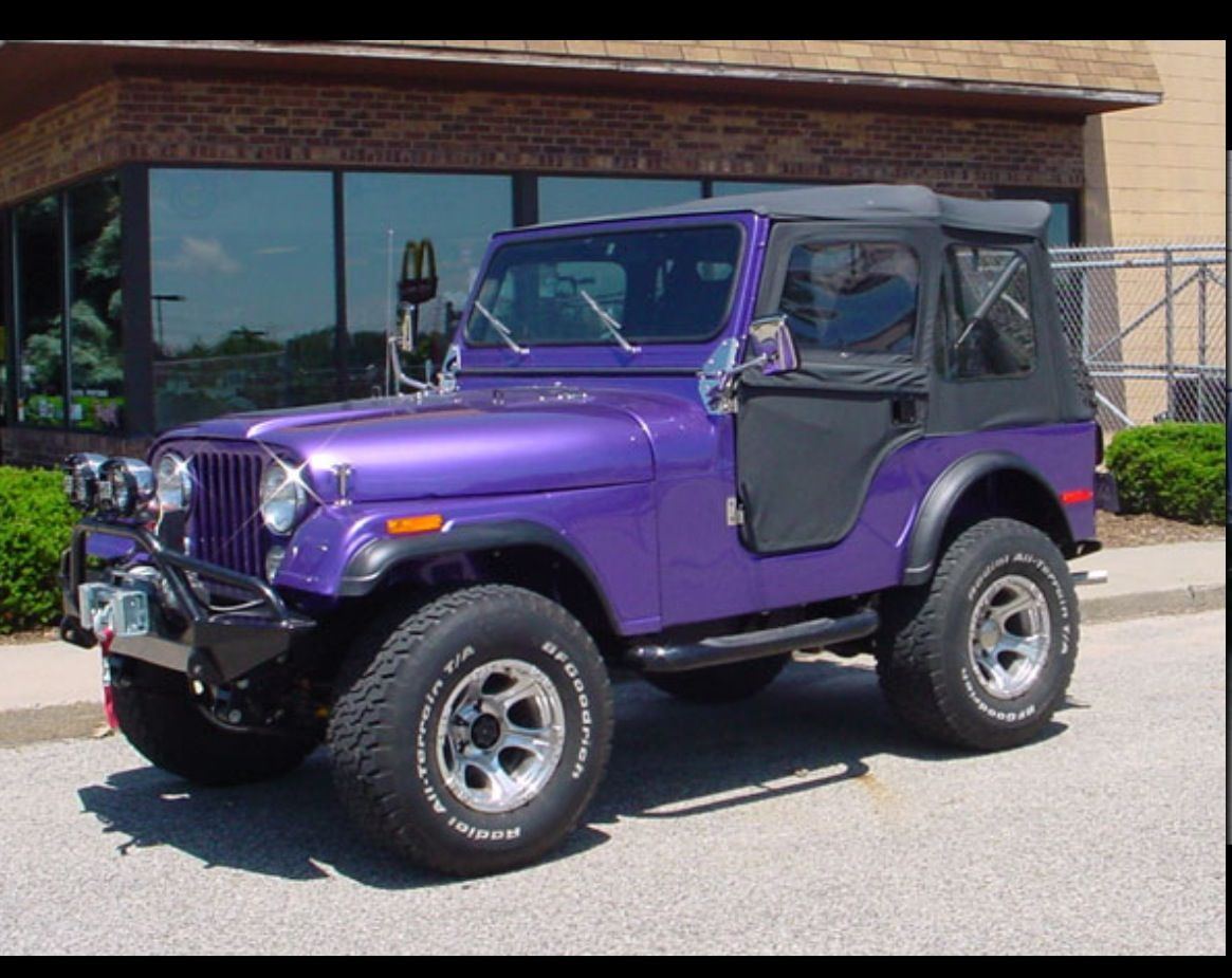 Dark Purple Jeep With Black Soft Top Would Want Hard Top And Real