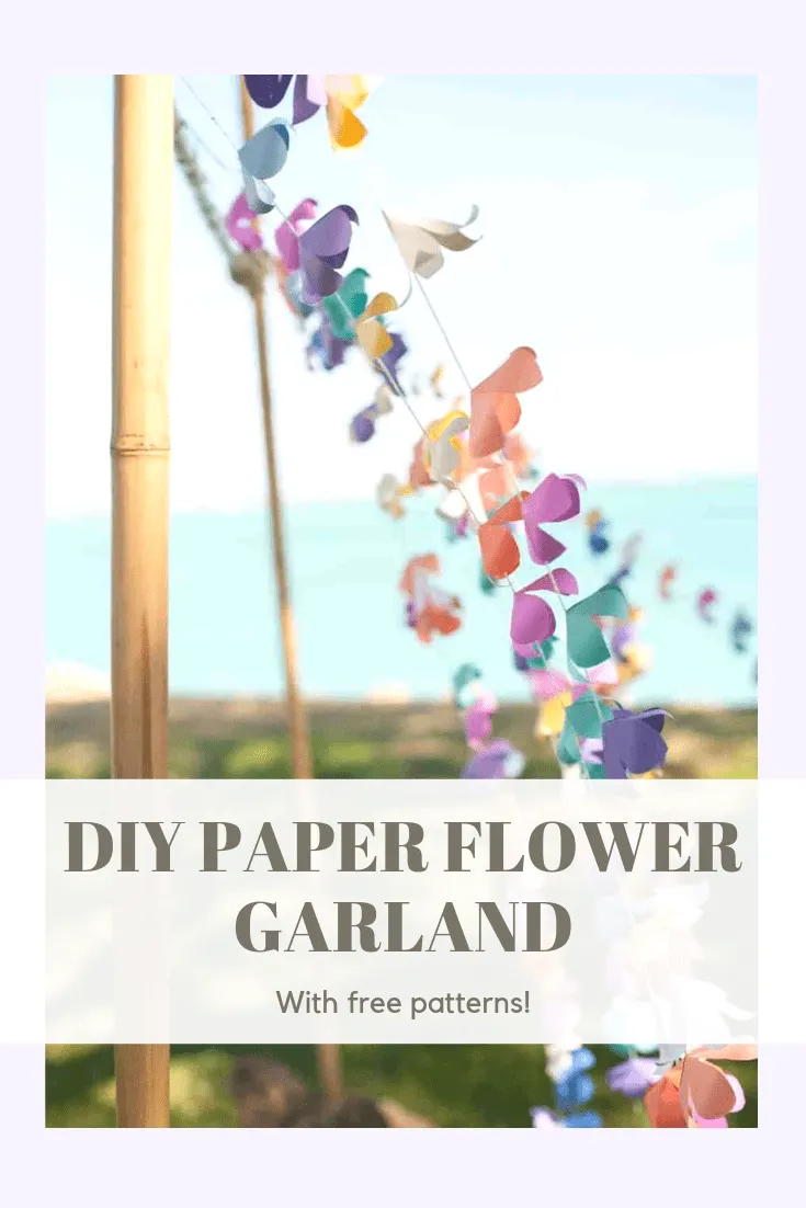 DIY Paper Flower Garland Lei Tutorial (with free printables and Silhouette Studio files!) - The Artisan Life