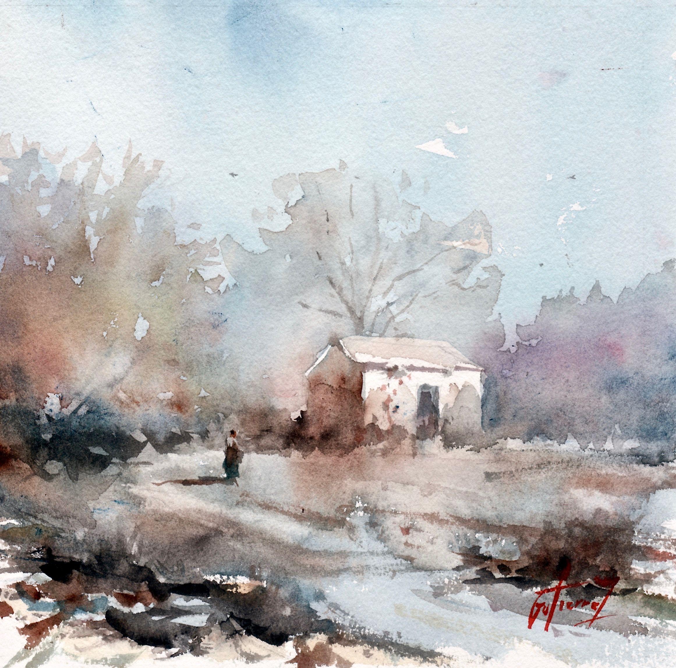 Le Cabanon Pierre Gutierrez Art Painting Watercolor