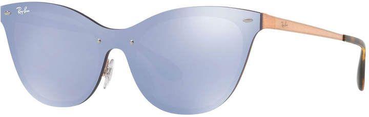 5fd539a26722f Mirrored Shield Cat-Eye Sunglasses in 2018