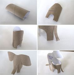 comment faire un elephant en carton atelier pinterest activit papier toilette et. Black Bedroom Furniture Sets. Home Design Ideas