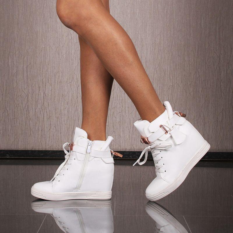 Keilabsatz Weiss Wedges Shoes Trendy Damen Schuhe Sneaker FwqH5OT5