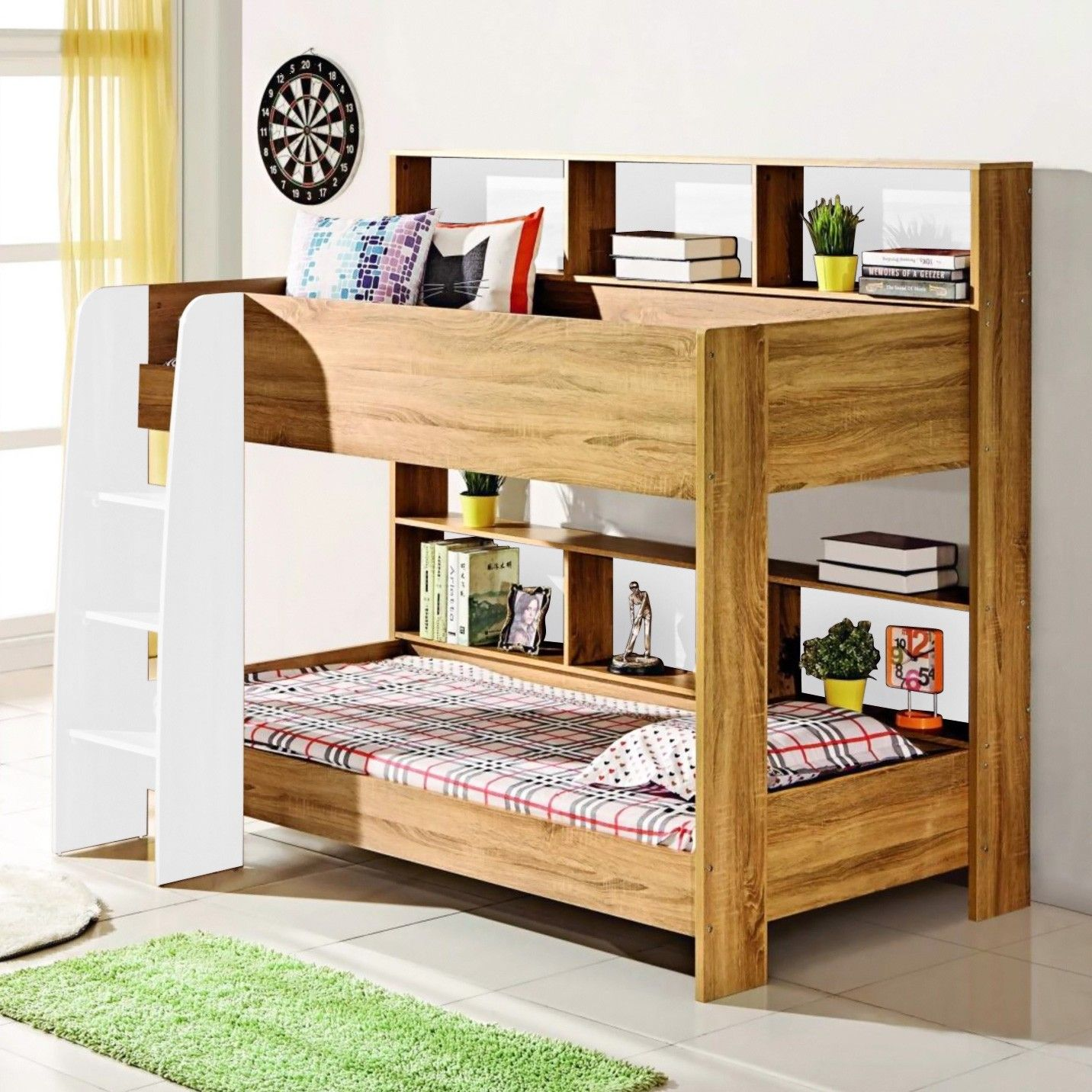 Peterstow Bunk Bed, Single, Natural Bunk beds, Single