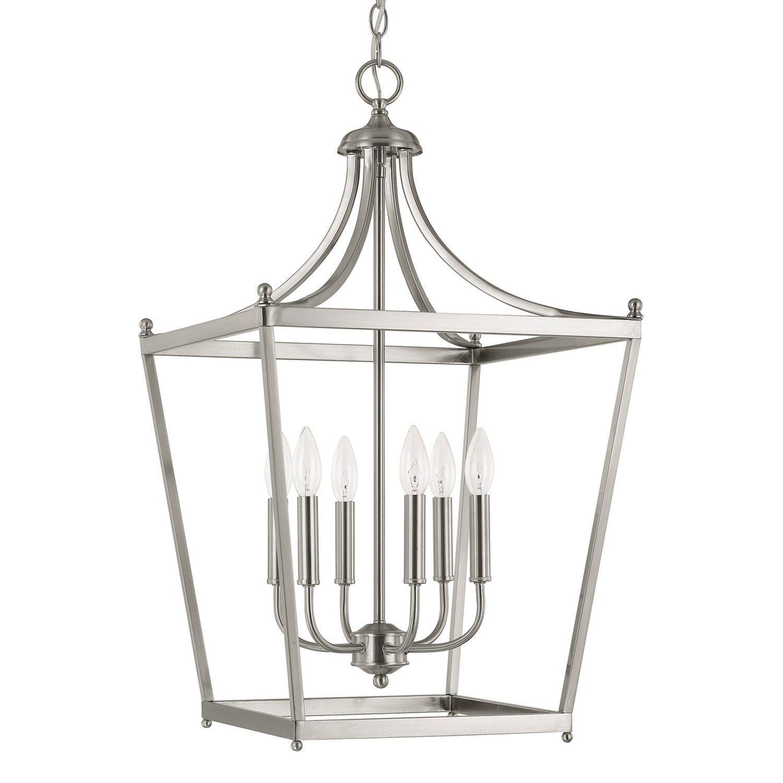 white foyer pendant lighting candle. Capital Lighting Fixture Company Stanton Brushed Nickel Six Light Foyer Pendant On SALE White Candle G