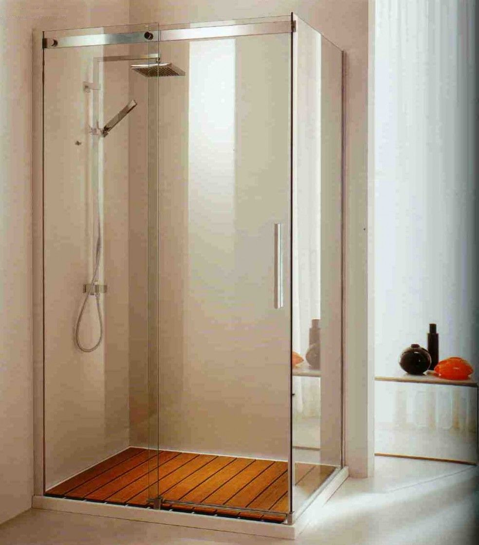 Bathrooms. Modern Interior Shower Enclosure Design Featuring Glass ...