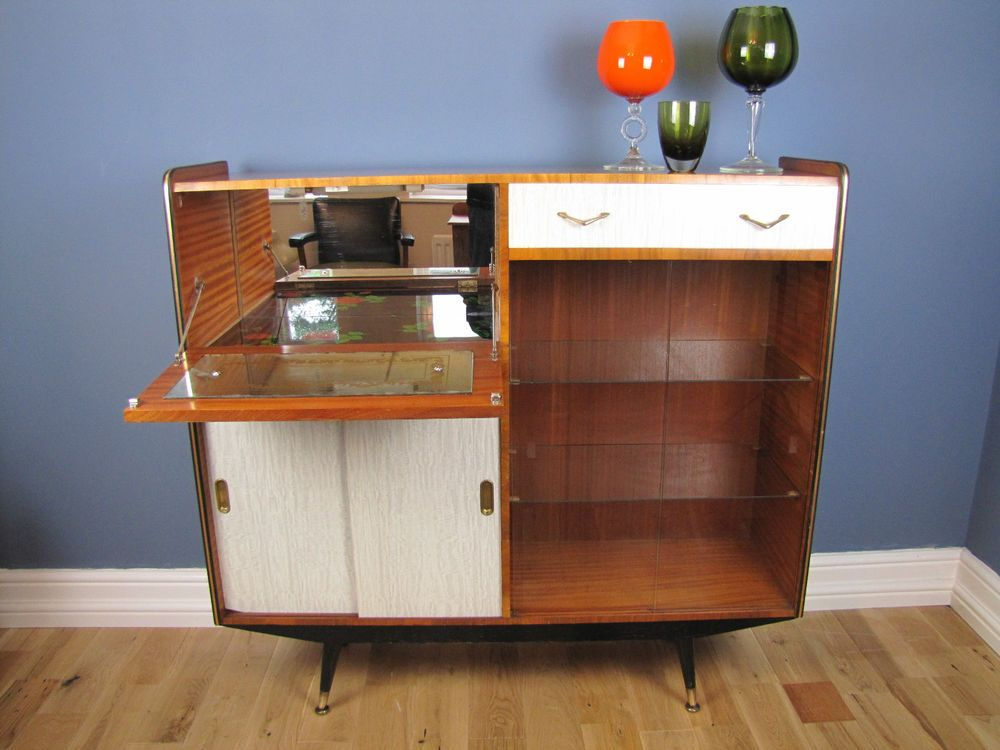 Upcycled Sideboard With Glass Doors
